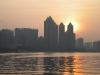 Sunset over Pearl River from Ersha Island, Guangzhou, capital of Guangdong Province