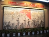 Flag raising ceremony for founding of People\'s Republic of China (PRC), Modern Shenzhen exhibition, Museum of History, Futian District, Shenzhen, Guangdong Province