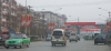 Street scene showing lunar new year decorations, Xiangcheng Henan