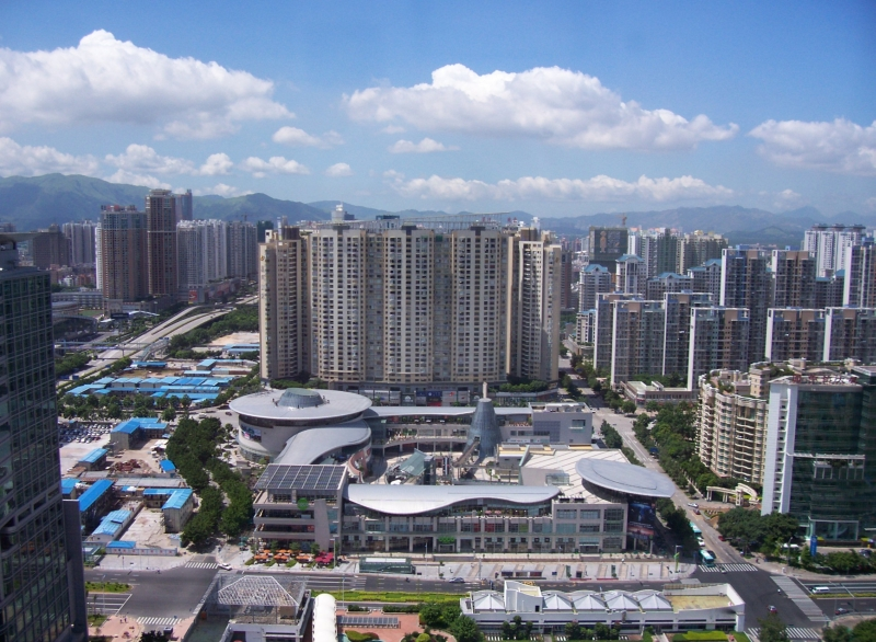Futian District (Coco Park Shopping Centre in foreground), Shenzhen
