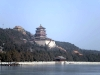 View towards Longevity Hill and Tower of the Fragrance of the Buddha from West Causeway, Summer Palace, Beijing