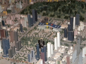 Model of central Shenzhen