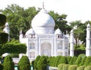 Model of Taj Mahal at Window of the World Theme Park